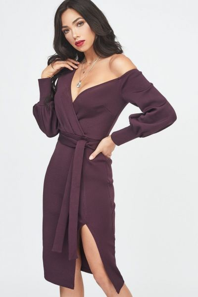 Lavish Alice Balloon Sleeve Knit Dress