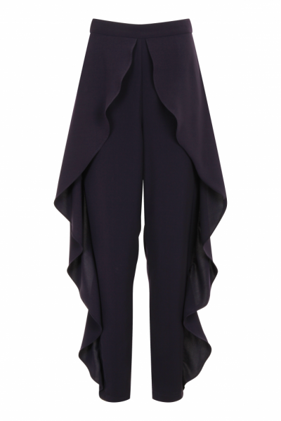 Navy Frill Trousers