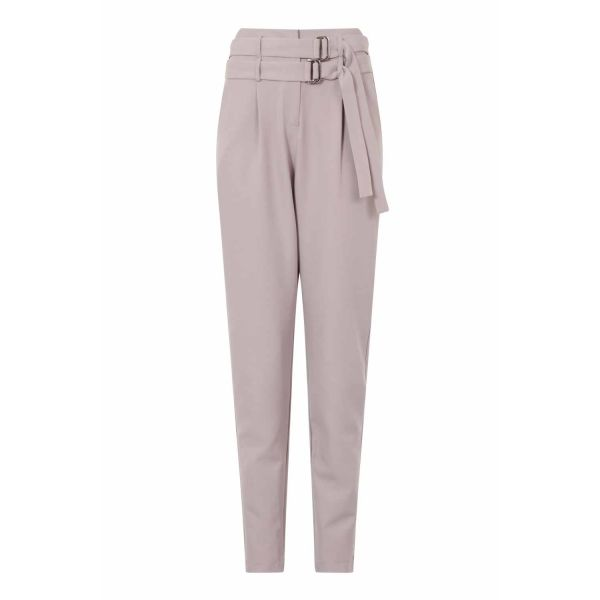 Lavish Alice Grey Double Belted Trousers